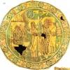 annunciation -coptic textile